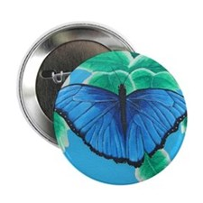 "Blue Morpho 2.25"" Button"