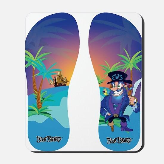 Blue Beard ™ Flip Flops Mousepad