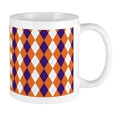 Clemson Argyle Sock Pattern South Carol Mug