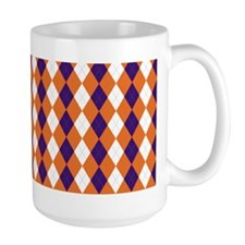 Clemson Argyle Sock Pattern South Carol Mug