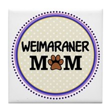 Weimaraner Dog Mom Tile Coaster