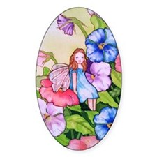 Garden Pansy Fairy Decal