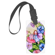 Garden Pansy Fairy Luggage Tag
