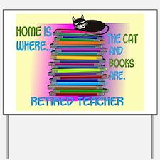 Retired teacher blanket size Yard Sign