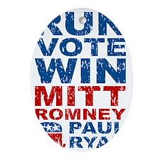 Romney Ryan Run Vote Win Oval Ornament