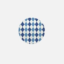 Carolina Blue Argyle Sock Pattern Nort Mini Button