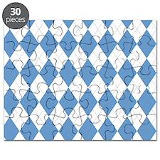 Carolina Blue Argyle Sock Pattern North Car Puzzle