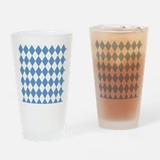Carolina Blue Argyle Sock Pattern N Drinking Glass