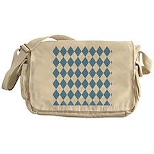 Carolina Blue Argyle Sock Pattern No Messenger Bag