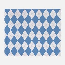 Carolina Blue Argyle Sock Pattern No Throw Blanket