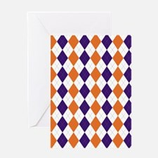 Clemson Argyle Sock Pattern South Ca Greeting Card