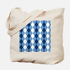 Carolina Blue Argyle Sock Pattern North C Tote Bag