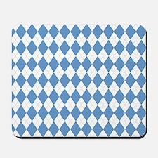 Carolina Blue Argyle Sock Pattern Mousepad