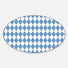 Carolina Blue Argyle Sock Pattern Decal