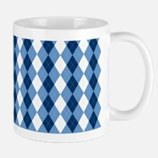 Carolina Blue Argyle Sock Pattern North Mug
