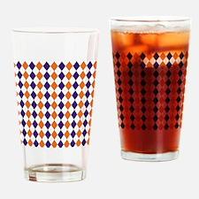 Clemson Argyle Sock Pattern South C Drinking Glass