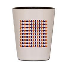 Clemson Argyle Sock Pattern South Carol Shot Glass