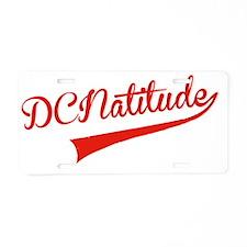 DCNATITUDE Swoosh Red Large Aluminum License Plate