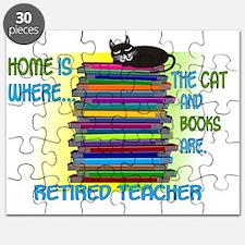 Retired Teacher home cat books Puzzle