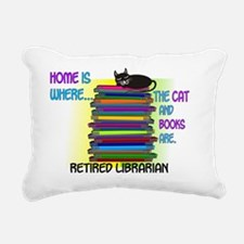 Retired Librarian Home i Rectangular Canvas Pillow