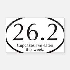 26.2...Cupcakes I've eaten th Rectangle Car Magnet