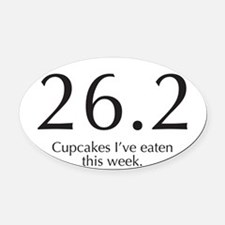 26.2...Cupcakes I've eaten this we Oval Car Magnet