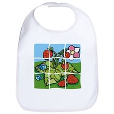 Strawberry Puzzle Bib