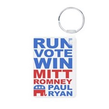Romney Ryan Run Vote Win Aluminum Photo Keychain
