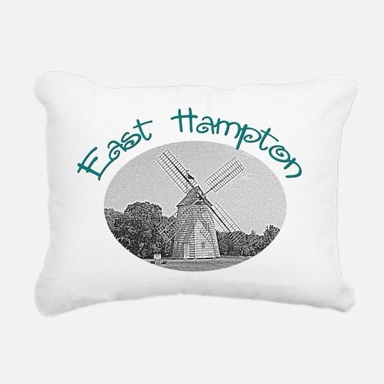 East Hampton Windmill Rectangular Canvas Pillow
