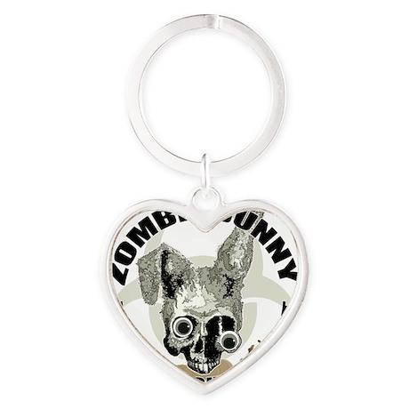 Zombie Bunny Heart Keychain