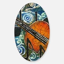 Fiddle Batik Sticker (Oval)