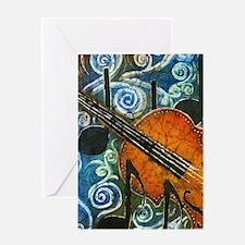 Fiddle Batik Greeting Card