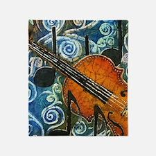 Fiddle Batik Throw Blanket