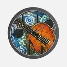 Fiddle Batik Wall Clock