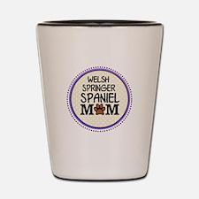 Welsh Springer Spaniel Dog Mom Shot Glass