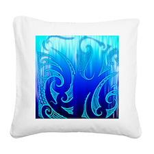 Blue Moko Jandal Square Canvas Pillow