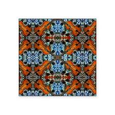 """Fiddle Batik Repeat Square Sticker 3"""" x 3"""""""