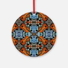 Fiddle Batik Repeat Round Ornament
