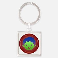 UMM2Much Face Button Square Keychain