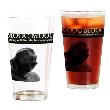 White MOOC Drinking Glass