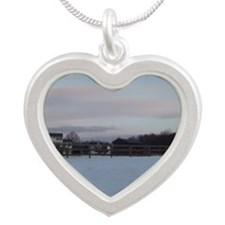 Where The Horses Are Silver Heart Necklace