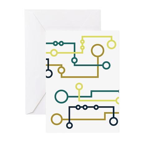 Circuit Board Greeting Cards (Pk of 10)