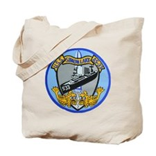 uss simon lake patch transparent Tote Bag