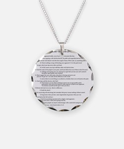 21 Rules & Truisms of Fencin Necklace