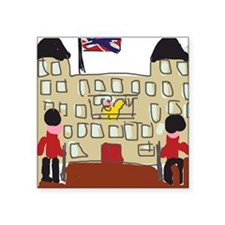 "HM Queen Elizabeth at Bucki Square Sticker 3"" x 3"""