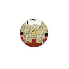 HM Queen Elizabeth at Buckingham Palac Mini Button