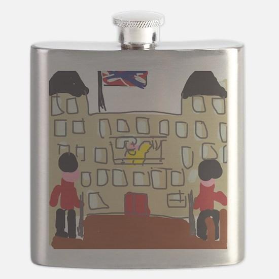 HM Queen Elizabeth at Buckingham Palace Flask