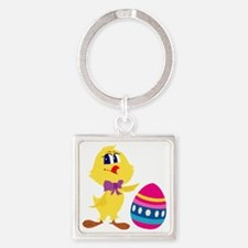 Easter_0043.gif Square Keychain