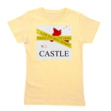 Castle: A Line Has Been Crossed Police  Girl's Tee