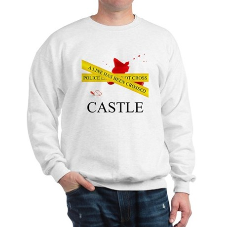 Castle: A Line Has Been Crossed Police Sweatshirt